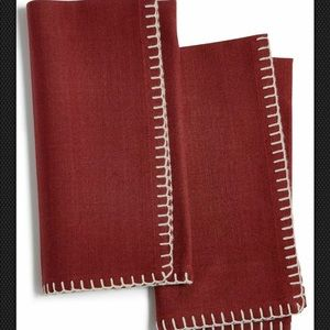 Bardwil Avery Mahogany 2-Pc. Cotton Napkin Set new